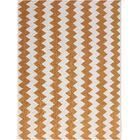 Pietsch Orange/White Area Rug Rug Size: 5' x 8'