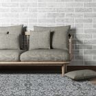 Kaydence Hand-Tufted Gray Indoor Area Rug Rug Size: Rectangle 8' x 11'