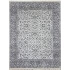 Zella Hand-Knotted Beige/Gray Area Rug Rug Size: Rectangle 6' x 9'