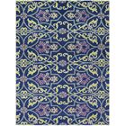 Bessie Hand-Tufted Wool Blueberry Area Rug Rug Size: Rectangle 5' x 7'6