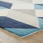 Benson Gray/Blue Geometric Area Rug Rug Size: Rectangle 8' x 11'