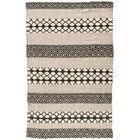 Flores Ash/Jet Black Indoor/Outdoor Area Rug Rug Size: Rectangle 8' x 10'