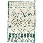 Halton Hand-Knotted Cream/Blue Area Rug Rug Size: Rectangle 8' x 10'