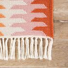 Afton Flat-Woven Orange/Brown Indoor/Outdoor Area Rug Rug Size: Rectangle 5' x 8'