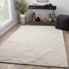Portland Hand Tufted Wool Cream Area Rug Rug Size: Rectangle 8' x 11'