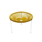 Zica End Table Base Color: White, Top Color: Caramel