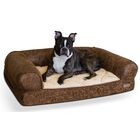 Bomber Memory Bloster Sofa Color: Brown/Tan, Size: Large (30
