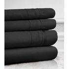 Celina Hotel 4 Piece 800 Thread Count 100% Cotton Sheet Set Color: Black, Size: King