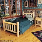 Rustic Log Bed Slat Headboard Size: Twin, Color: Natural
