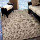 Acton Tan/Ivory Indoor/Outdoor Area Rug Rug Size: 5'1