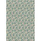 Portwood Coral Linen Ivory/Blue Indoor/Outdoor Area Rug Rug Size: 5'2