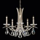 Vesca 5-Light Chandelier Finish: White, Crystal Type: Clear Spectra Crystal