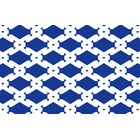 Modern Geometric Sapphire Rug Rug Size: 5'10