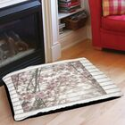 Cherry Blossom Stripes Indoor/Outdoor Pet Bed Size: 40