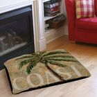 Coastal Palm Postcard Indoor/Outdoor Pet Bed Size: 28