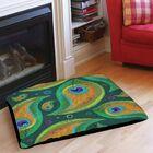 Peacock Pattern 9 Indoor/Outdoor Pet Bed Size: 50