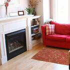 Golden Baroque Red Area Rug Rug Size: 5'10