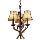 Ponderosa 3-Light Shaded Chandelier Shade Type: Gold Organza