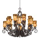 Ibiza 16-Light Shaded Chandelier Finish: Antique Copper, Shade Type: Antique Linen