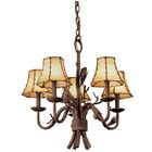 Ponderosa 5-Light Shaded Chandelier Shade Type: Silver Organza