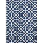 Ardsley Blue/White Area Rug Rug Size: 7'6