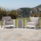Durbin 3 Piece Conversation Set with Cushions Table Color: Natural