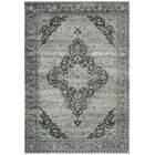 Makenna Gray/Black Area Rug Rug Size: Runner 2'2