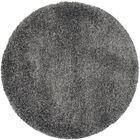 Maya Handmade Dark Gray Area Rug Rug Size: Round 6'7