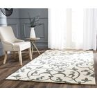 Rhona Hand-Tufted Ivory/Grey Contemporary Area Rug Rug Size: Rectangle 7'6