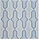 Dhurries Handmade Light Blue/Dark Blue Area Rug Rug Size: Square 6'