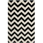 One-of-Kind Wilkin Chevron Hand-Tufted Wool Ivory/Black Area Rug Rug Size: Rectangle 4' x 6'