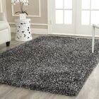 Anna Hand-Tufted/Hand-Hooked Charcoal Area Rug Rug Size: Rectangle 5' x 8'