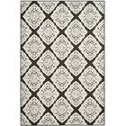 Mannox Black/Cream Indoor/Outdoor Area Rug Rug Size: Rectangle 6'7