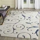 Alison Cream/Navy Blue Area Rug Rug Size: Rectangle 5'3