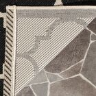 Octavius Black/Beige Indoor/Outdoor Area Rug Rug Size: Rectangle 8' x 11'