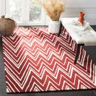 Martins Hand-Tufted Wool Red/Ivory Area Rug Rug Size: Rectangle 4' x 6'