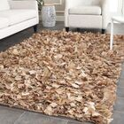 Carrol Hand-Tufted Brown Area Rug Rug Size: Rectangle 4' x 6'