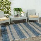 McCall Gray/Navy Indoor/Outdoor Area Rug Rug Size: Rectangle 6'7
