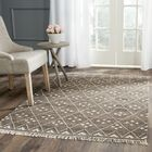 Natural Kilim Hand-Woven/Flat-Woven Brown/Ivory Area Rug Rug Size: Runner 2'3