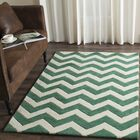 Wilkin Hand-Tufted Wool Teal/Ivory Area Rug Rug Size: Rectangle 5' x 8'