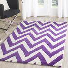 Charlenne Hand-Tufted Purple/Ivory Wool Area Rug Rug Size: Rectangle 6' x 9'