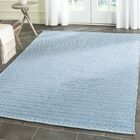 Hampden Hand-Woven Cotton Ivory/Blue Area Rug Rug Size: Rectangle 5' x 7'