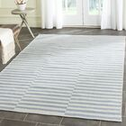 Orwell Hand-Woven Cotton Ivory/Light Blue Area Rug Rug Size: 4' x 6'