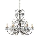Victoria 6 Light Swarovski Spectra Crystal Candle Chandelier Finish: Dark Rust