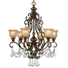 Tusten 6-Light Shaded Chandelier Crystal Type: Swarovski Spectra