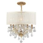 Brentwood 5 Light Chandelier Crystal: Swarovski Spectra