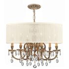 Corrinne 6-Light Chandelier Crystal: Clear