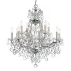 Marianne 13-Light Candle Style Chandelier Finish: Chrome
