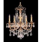 Aureolin 5-Light Crystal Chandelier Crystal: Clear Majestic Wood Polished