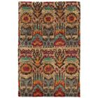 Ansley Abstract Hand-Knotted Beige/Rust/Brown Area Rug Rug Size: Rectangle 5' x 8'
